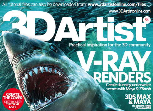 3D Artist Magazine: Diving With Sharks - Underwater Renders