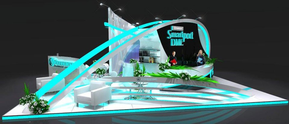 Exhibition Stand Tips : Domodedovo stand design d game animation and